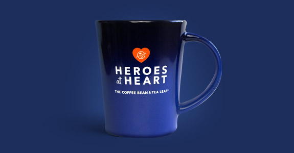 Heroes at Heart Blue Coffee Mug