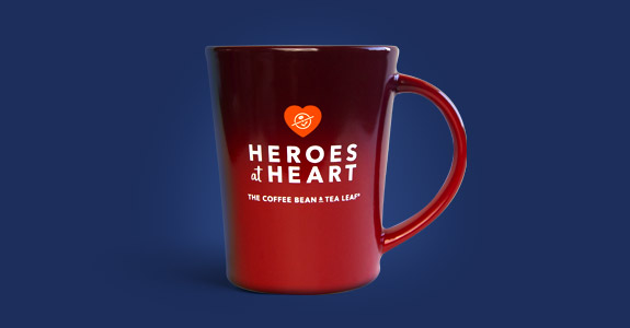 Heroes at Heart Red Coffee Mug