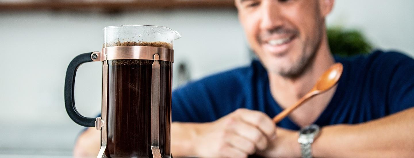 brewing for body featuring a french press
