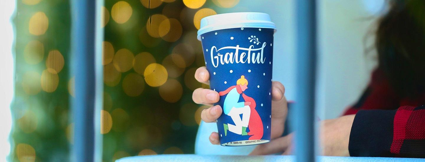 blue grateful holiday cup