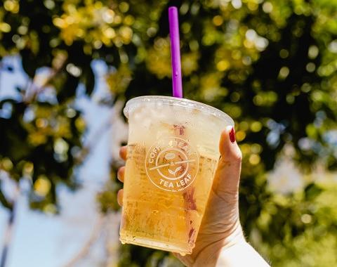 holding a refreshing cup of iced tea