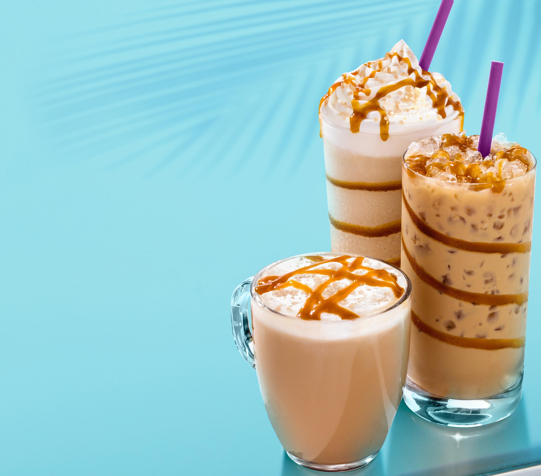 Caramel Coconut Latte, Iced Latte & Ice Blended® Drink