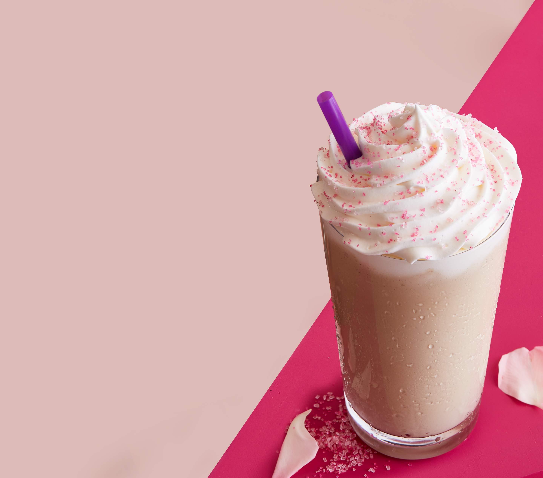 Iced Caramel Latte From Coffee Bean: Rose Hazelnut Latte, Iced Latte & Ice Blended® Drink