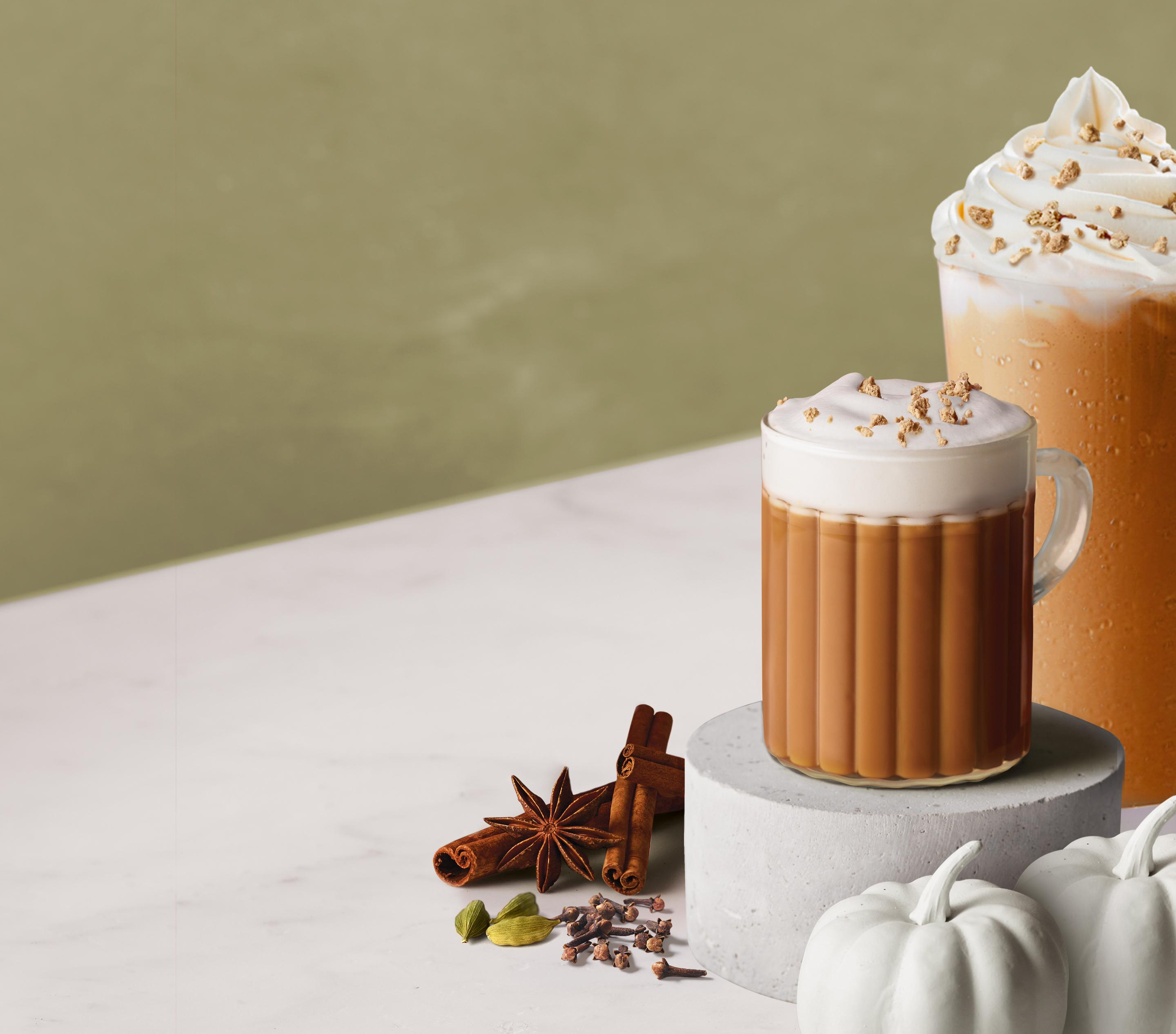 Pumpkin Spiced Chai Latte, Iced Latte & Ice Blended® drink ...