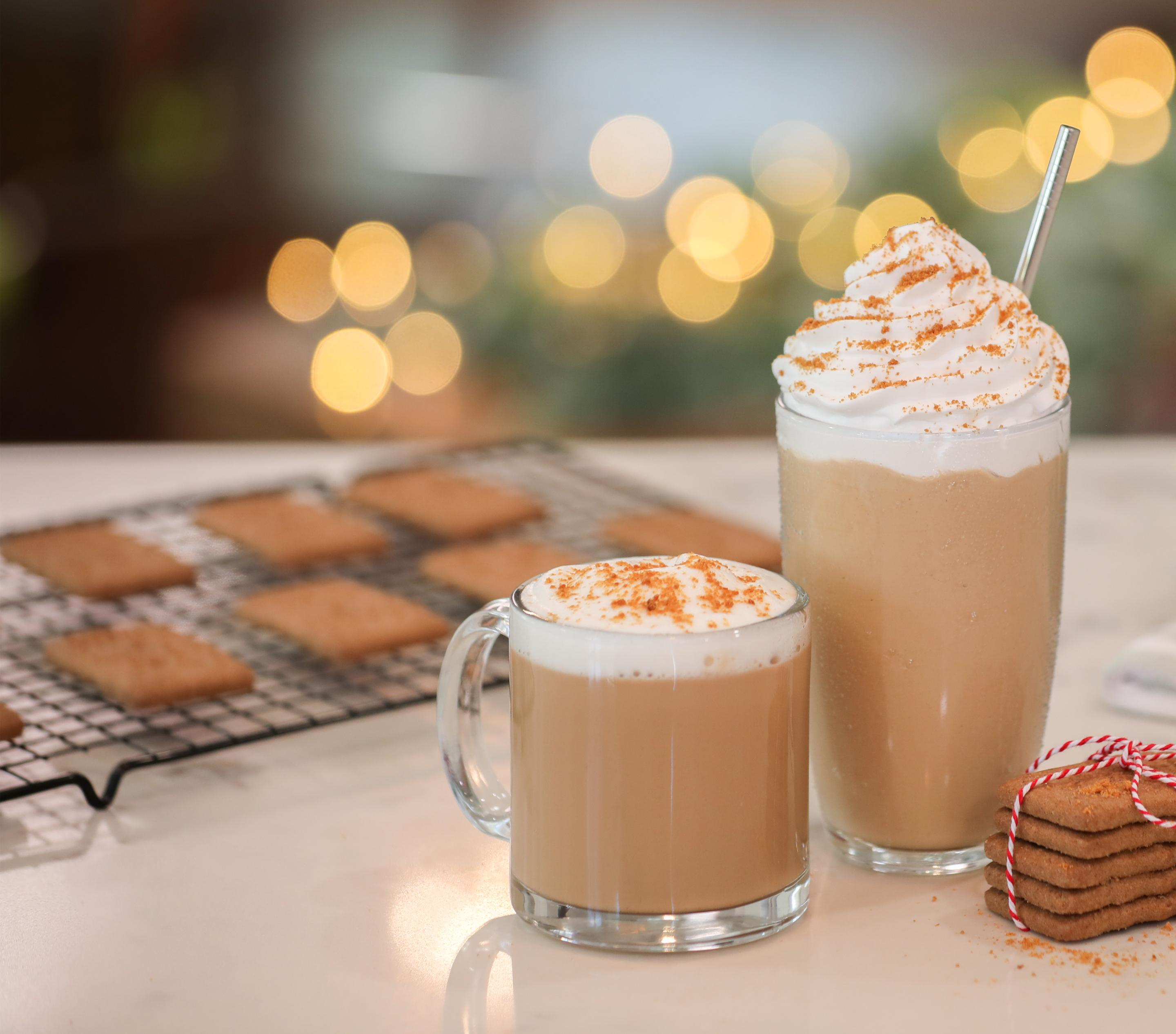 Cookie Butter Latte, Iced Latte, & Ice Blended® Drink